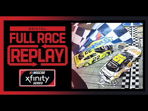 NASCAR NRA ナイトレース(ブリストル・モーター・スピードウェイ)Xfinityクラスのフルレース動画