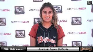 2022 Malia Alvarez Pitcher Softball Skills Video - Cen Cal Dirt Dogs