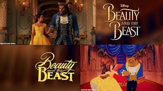 """""""Beauty and the Beast"""" (Tale As Old As Time) Disney 1991 vs 2017 