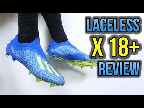 MO SALAH NEW FOOTBALL BOOTS! – LACELESS ADIDAS X 18+ (REVIEW + ON FEET)