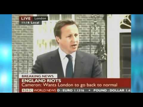 Riots: Cameron blames lack of morality, bad parenting