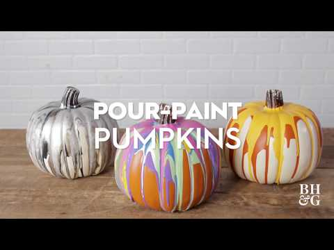 Pour-Paint Pumpkins | Made By Me Crafts | Better Homes & Gardens