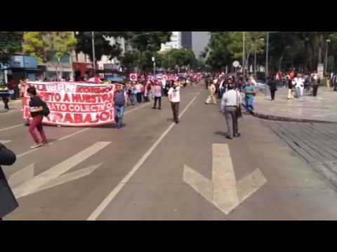 Trabajadores piden respeto a la SEP a su CCT
