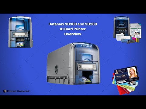SD360 Automatic Dual Sided ID Card Printer