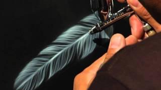 Airbrush.TV Jonathan Pantaleon Airbrush Feather Tutorial