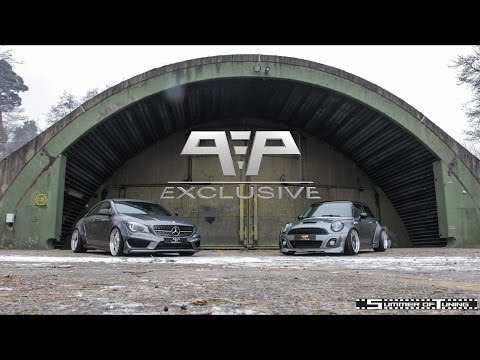 Liberty Walk Mercedes-Benz CLA & Mini Cooper S on PP-Exclusive wheels