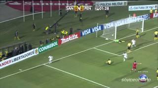 Melhores Momentos   Santos 2 X 1 Peñarol   Libertadores 2011   22062011