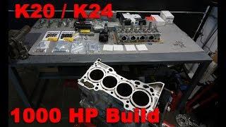 K24 Engine Build Start To Finish -  The Best 4 Cylinder Ever Made