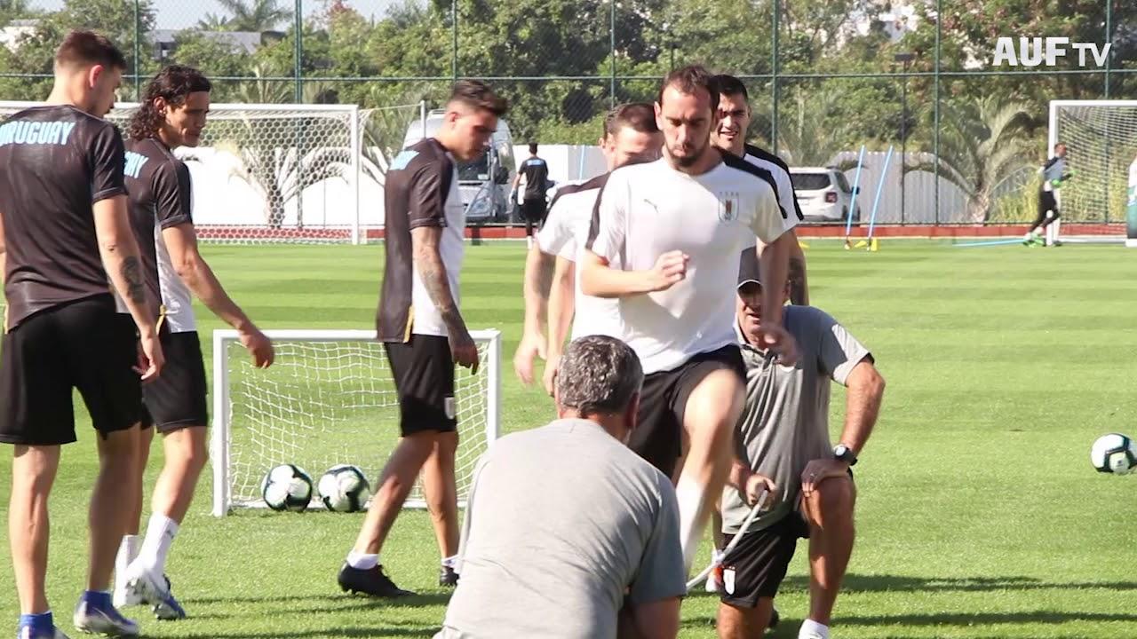 Último entrenamiento previo al encuentro con Chile