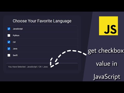 JavaScript Get Multiple Checkbox Value In Array