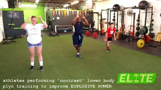 Athlete Contrast Plyo Broad Jumps to Develop EXPLOSIVE POWER