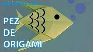 Origami, cómo hacer un pez de papel
