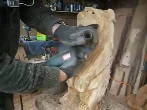 Video of Chainsaw Carving: Finish Work