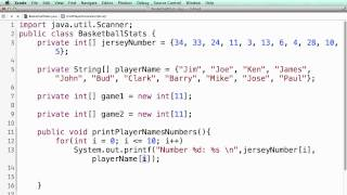 Java Parallel Arrays (for beginners)