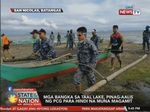 [GMA]  SONA: Mga bangka sa Taal Lake, pinag-aalis ng PCG para hindi na muna magamit