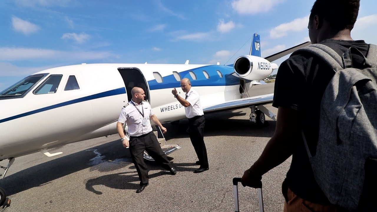 FLexing so hard in our $299 Private Jet. thumbnail