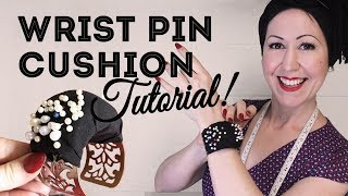 How To Make A Wrist Pin Cushion - DIY Wrist Pincushion Tutorial With No Elastic!