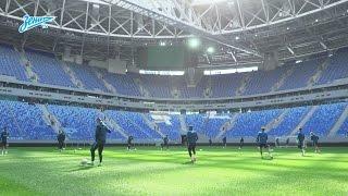 «Зенит-ТВ»: первая тренировка сине-бело-голубых на стадионе «Санкт-Петербург»