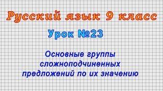 Русский язык 9 класс Урок 23