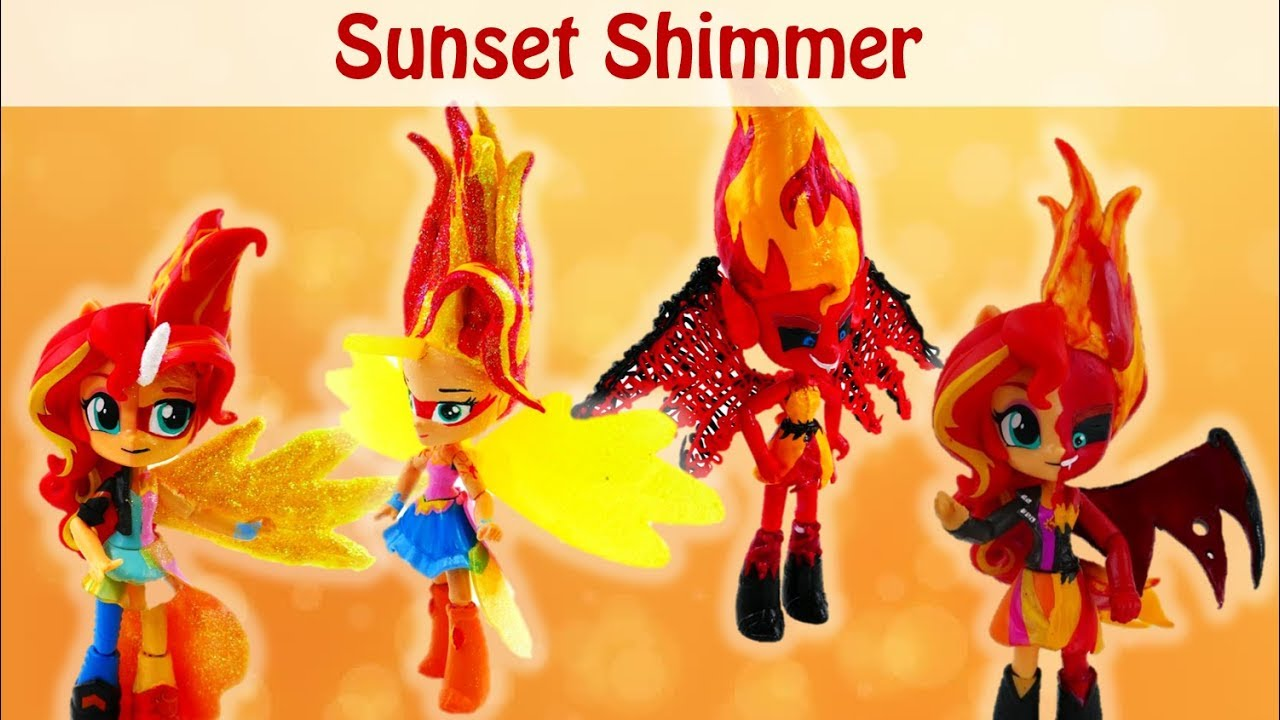 Daydream and Evil Sunset Shimmer Compilation - My Little Pony Customs and Split Pony