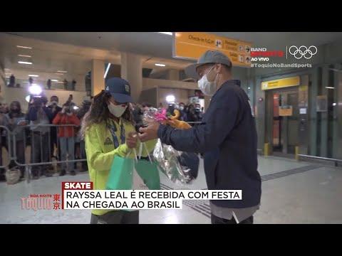 RAYSSA LEAL DESEMBARCA NO BRASIL E É RECEBIDA POR SANDRO DIAS| BOA NOITE TÓQUIO