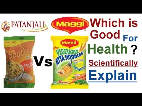 , title : 'Patanjali Vs Maggi Atta Noodles , which is good for health, Complete Review with science'