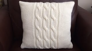 How To Knit A Cable Pillow, Lilu's Handmade Corner Video # 61