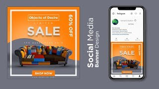 Digital Social Media Banner Design In Adobe Photoshop Cc