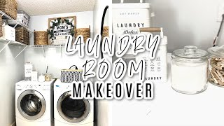 LAUNDRY ROOM | LAUNDRY ROOM MAKEOVER | LAUNDRY ROOM IDEAS | DIY LAUNDRY ROOM | DECORATE WITH ME