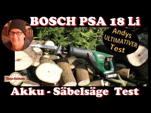 Bosch PSA 18 Li Akku Säbelsäge Test