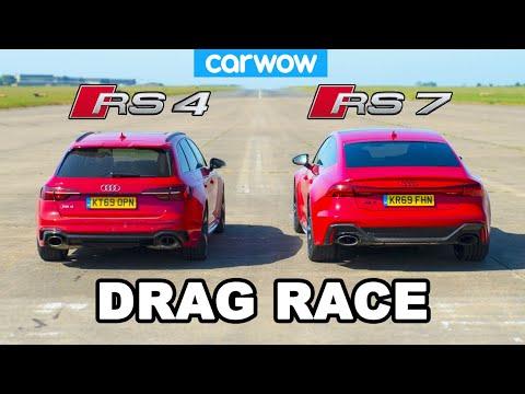 Audi RS7 vs Audi RS4: DRAG RACE