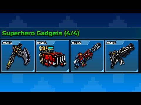 Superhero Gadgets - Pixel Gun 3D Set gameplay