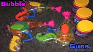 Bubble gun toy for kids are making bubbles with bubble gun