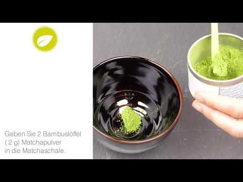 Die richtige Zubereitung von Matcha Tee