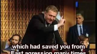 Zhirinovsky in European Council (ENG subtitles)