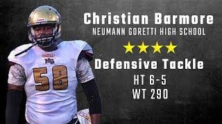 Christian Barmore highlights   Alabama 4-star DT signee from Neumann Goretti