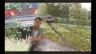 Пьяный ВАЗовод, расхлопал свой ВАЗ об забор, уходя от погони ДПС
