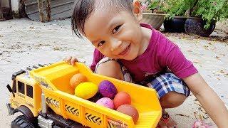 Trò Chơi Bé Săn Trứng Màu ❤ ChiChi Kids TV ❤ Đồ Chơi Trẻ Em Baby Doli