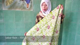 Batik Cap Kombinasi Tulis Motif Anggrek