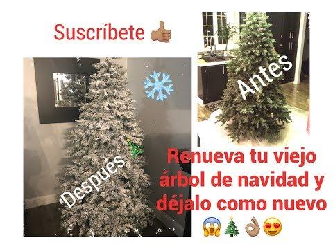 ❄️🎄😱👌🏽😍Cómo ponerle nieve artificial a tu árbol de navidad/déjalo como nuevo 👍🏽👌🏽🎄