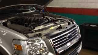 Ford Explorer Coolant Leak Radiator Repair