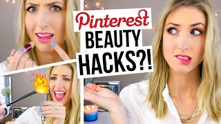 5 Pinterest Beauty Hacks TESTED!