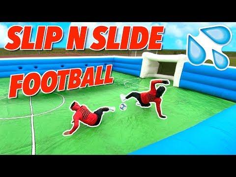 GIANT SLIP N SLIDE FOOTBALL! ⚽️  | BILLY VS JEZZA