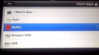 Netflix on Blackberry Playbook