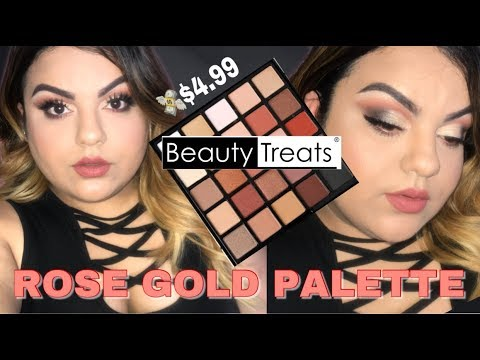 mp4 Beauty Treats Rose Gold Palette Review, download Beauty Treats Rose Gold Palette Review video klip Beauty Treats Rose Gold Palette Review