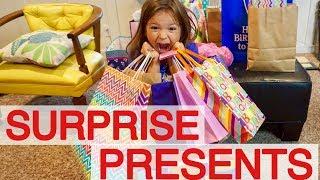 OPENING PRESENTS BIRTHDAY MORNING SURPRISE