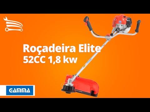 Roçadeira Elite Eixo Reto 52CC 1,8 kw - Video