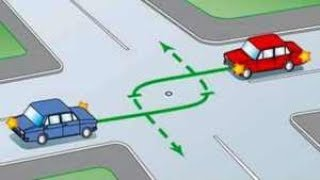 Чем опасны перекрестки или Одновременный поворот налево со встречным автомобилем