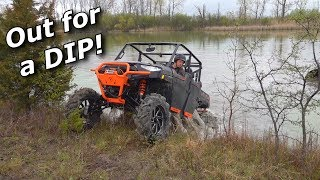 Our Polaris Ranger HighLifter Crew XP1000 DOMINATES the pond!