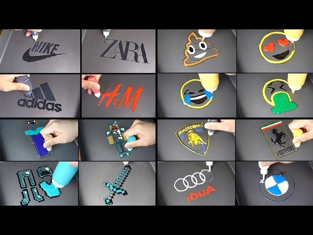 2019 Best Pancake Art - Brand logos, Minecraft noob&pro, Emoji, Car Logos